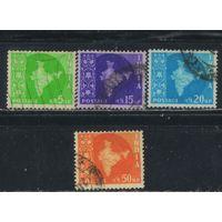 Индия 1957 Карта Индии Стандарт #262,267,268,270