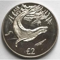 Южная Георгия и Южные Сендвичевы острова 2 фунта 2018 года. Морской леопард