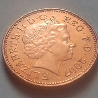 1 пенни, Великобритания 2007 г, UNC