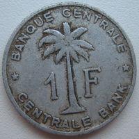 Бельгийское Конго 1 франк 1958 г. (Руанда - Урунди) (d)