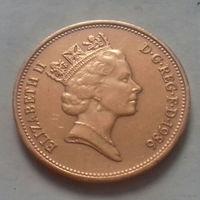2 пенса, Великобритания 1986 г., AU
