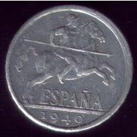 10 сентимос 1940 год Испания 2