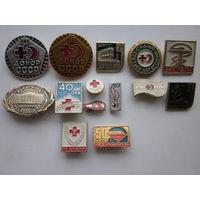 Значки Донор-СССР разные.14 штук.