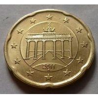 20 евроцентов, Германия 2011 A, AU