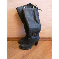 Сапоги зимние,кожаные, 38 размер