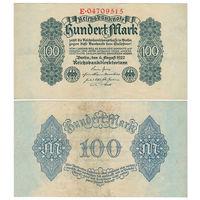 Германия. 100 марок 1922 г. [P.85]