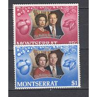 25 лет королевской свадьбы. Монтсеррат. 1972. 2 марки (полная серия).