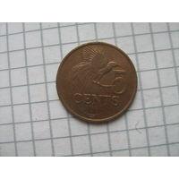 Тринидад и Тобаго 5 центов 2001г.