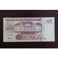 Суринам 100 гульденов 1998