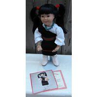 """Коллекционная Фарфоровая Кукла """"DESERT STAR"""" в Оригинальной Коробке и с Сертификатом Подлинности. На подставке, 41см высота куклы, художник Michele Severino для The Ashton-Drake Galleries, 1994 год, С"""