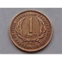 Восточные Карибы 1 цент 1955