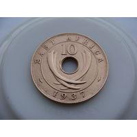 Британская Восточная Африка.  10 центов 1937 год KM#26