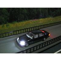Модель автомобиля Mercedes 500SEL (LED 12 вольт). Масштаб HO-1:87.