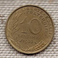 10 сантимов 1970 Франция KM# 929 алюминиевая бронза