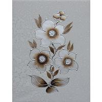 Картина маслом 126 контурные цветы 35х45