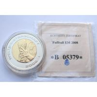 """Германия, медаль 2006 год, """"Чемпионат Европы по футболу 2008 год"""" - 35мм"""