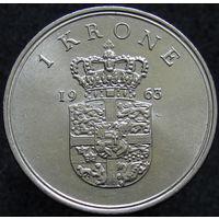 Дания 1 крона 1963 (436)