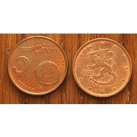 Финляндия, 5 евроцентов 2001