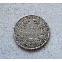 Германия 1/2 марки 1906 Е (Мюльденхюттен)