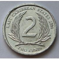 Восточные Карибы 2 цента, 2004 г.