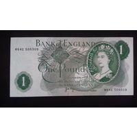 1 фунт 1970-1977 года. Великобритания. aUNC. Распродажа.