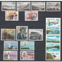 Фареры (Дания). 1985. 18 марок (полный годовой комплект). Michel N 112-129 (34,0 е)