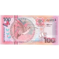 Суринам, 100 гульденов, 2000 г. UNC