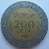 Западная Африка 200 франков 2003 г.