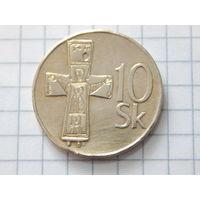 Словакия 10 крон 1995 (единственная на ау)