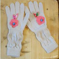 Новые удлиненные перчатки на 8-10 лет