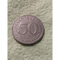 Боливия 50 сентаво 1967