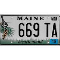 Номер автомобильный США  Maine 669
