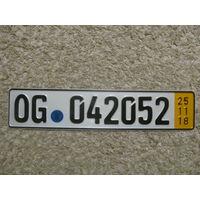Автомобильный номер Германия OG042052