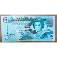 5 долларов 2008 года - Восточные Карибы - UNC
