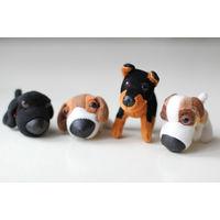Серия мягких игрушек собачек-щенков из МакДональдс. Поштучно.