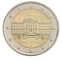 2 евро 2019 Германия G Бундесрат UNC из ролла