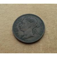 Стрейтс-Сеттлментс, 1 цент 1883 г., Виктория (1837-1901)