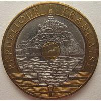 Франция 20 франков 1992 г. Мон-Сен-Мишель (гора святого Михаила)