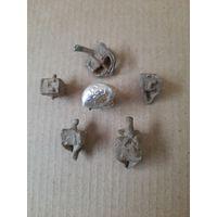 Еврейский лот. Дрейдл 2 больших, 3 маленьких + свинцовая пробка от духов.