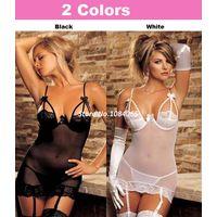 Сексуальный комплект: платье, подвязки, стринги
