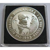 """Австралия 1993 серебро (1 oz) """"Кукабарра"""""""