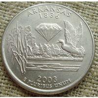 25 центов 2003 США - Арканзас