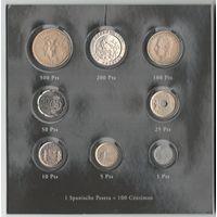 Испания набор монет от 1 до 500 песет в блистере