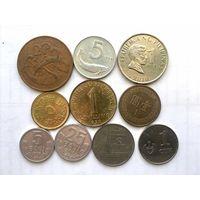 Сборный лот #5.2 с экзотикой - 10 монет, все разные, без СССР и СНГ