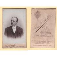 Кабинет-фото / Портрет элегантного мужчины / Carl Schafer, Elberfeld
