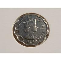 """Маврикий.""""Британская колония"""" 10 центов 1971 год """"Правитель - Елизавета II"""" КМ#33  AU-XF"""
