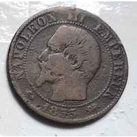 "Франция 5 сантимов, 1855 ""D"" - Лион 3-12-2"
