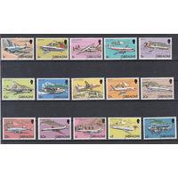 Транспорт. Самолеты. Гибралтар. 1982. Полная серия. Michel N 432-446 (40,0 е)..