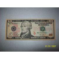 10 долларов со звездой.продается в целях коллекционирования