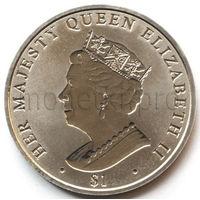 Британские Виргинские Острова 1 доллар 2017 года.  Королева Елизавета II. Сапфировый юбилей